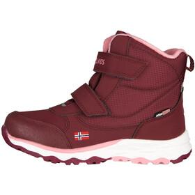 TROLLKIDS Hafjell Winter Boots Kids, rojo/rosa
